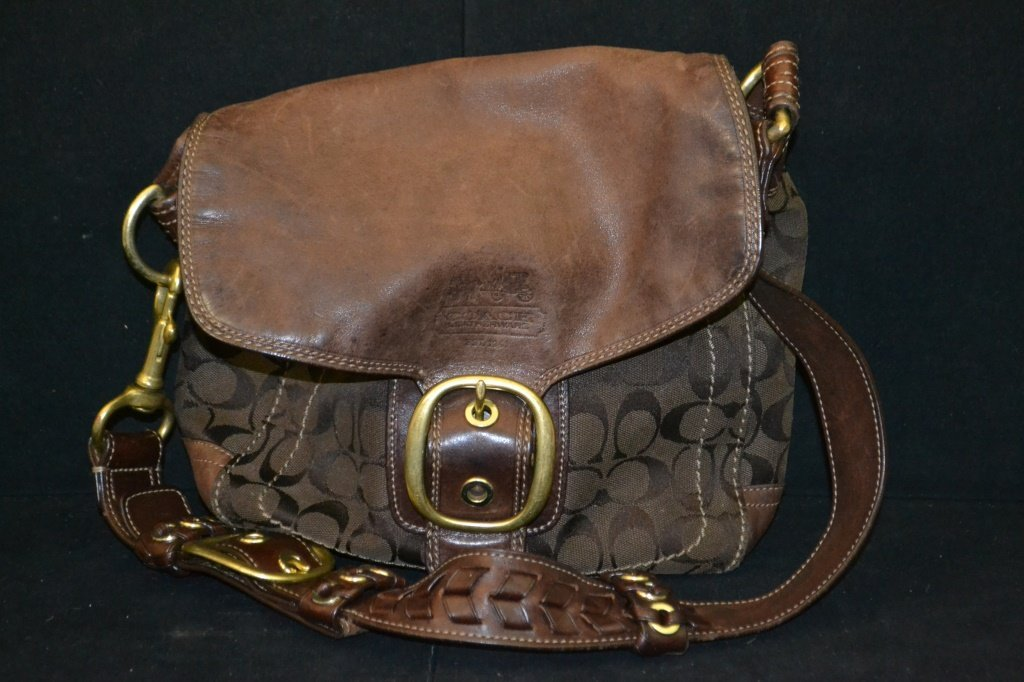 Brown Coach Cloth Purse