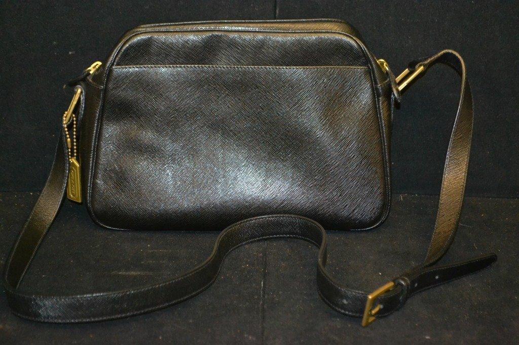 Vintage Black Leather Coach Bag