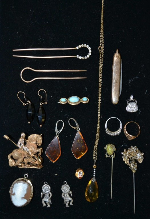 Denicola Vintage Horse, Victorian Hair Pins, Etc