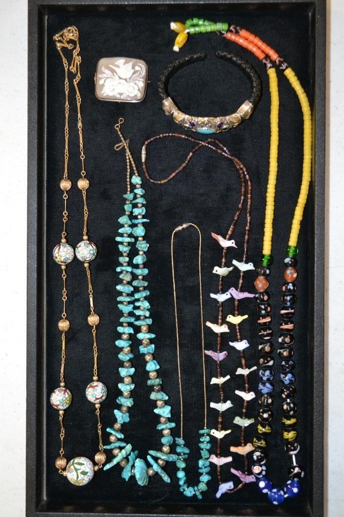 Vintage Glass Bead Necklace, Fetish Necklace, Etc