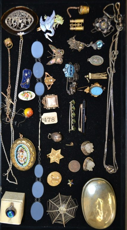 Sterling Silver & Gold Filled Victorian Lot