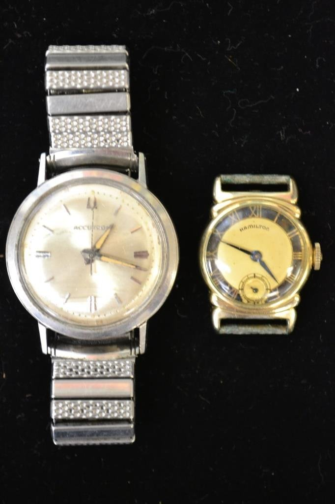 Vintage Accutron Wrist Watch & Ladies Hamilton