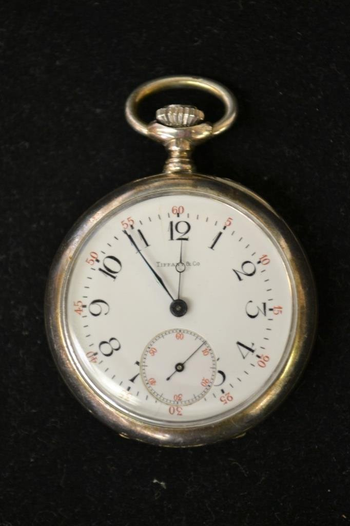Antique Sterling Silver Tiffany & Co. Pocket Watch