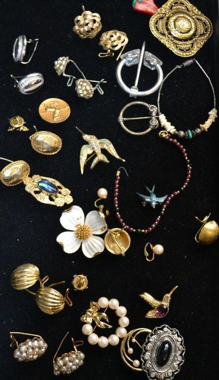 Vintage Lot of Earrings & Pins