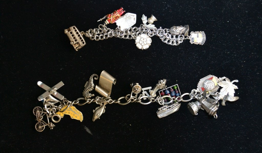 Two Sterling Silver Charm Bracelets