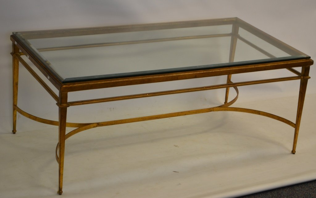 Designer Iron & Glass Coffee Table - 2