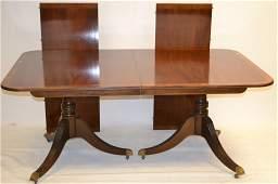 Baker Furniture Co. Pedestal Dining Room Table