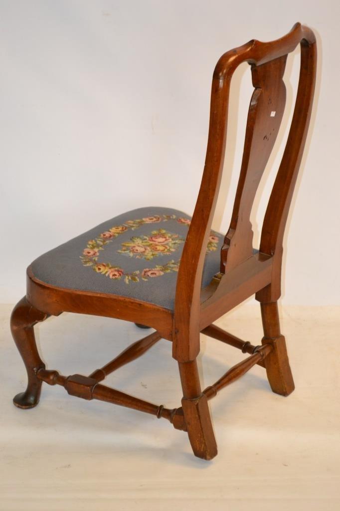 18th C Queen Anne Slipper Chair - 2