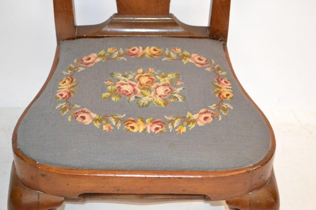 18th C Queen Anne Slipper Chair - 3