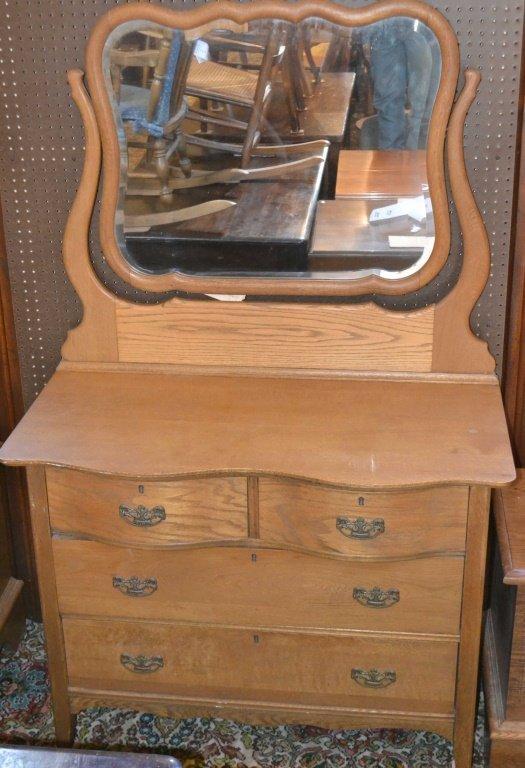 Oak Dresser w/ Mirror c.1910