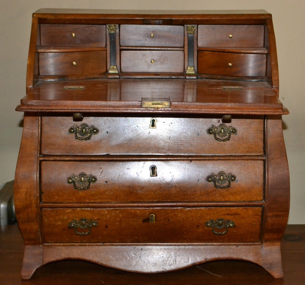 19th Century Miniature Bombay Fall Front Desk