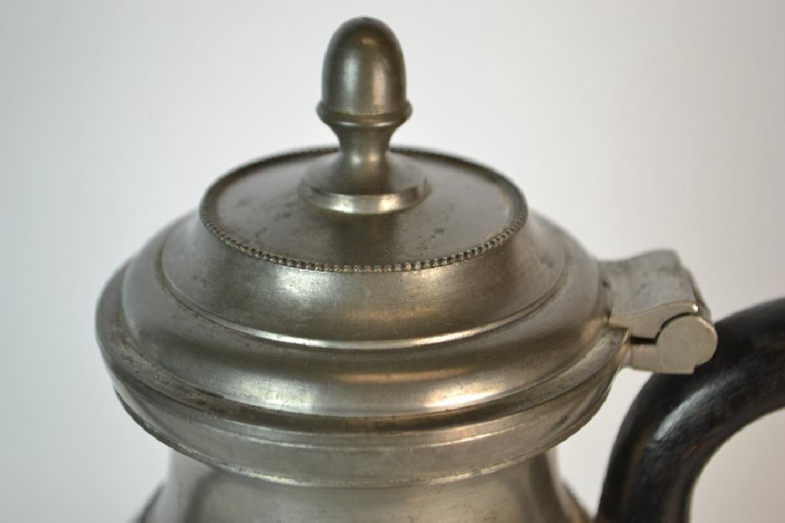 19th Century Belgium Pewter Coffee Pot - 3