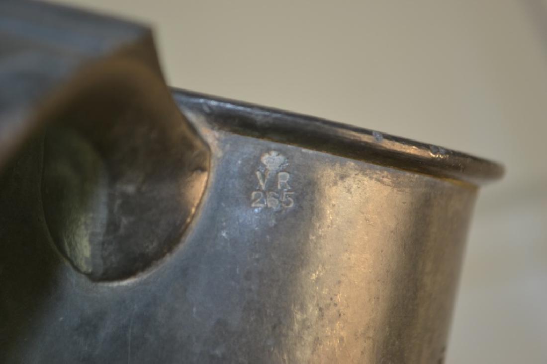 19th Century English Pewter Pub Pint Measure - 3