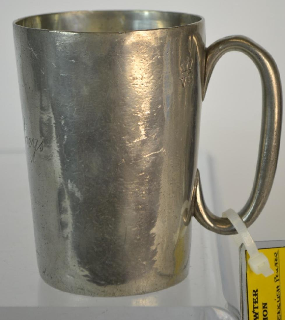 19th Century English Pewter Pub Tankard