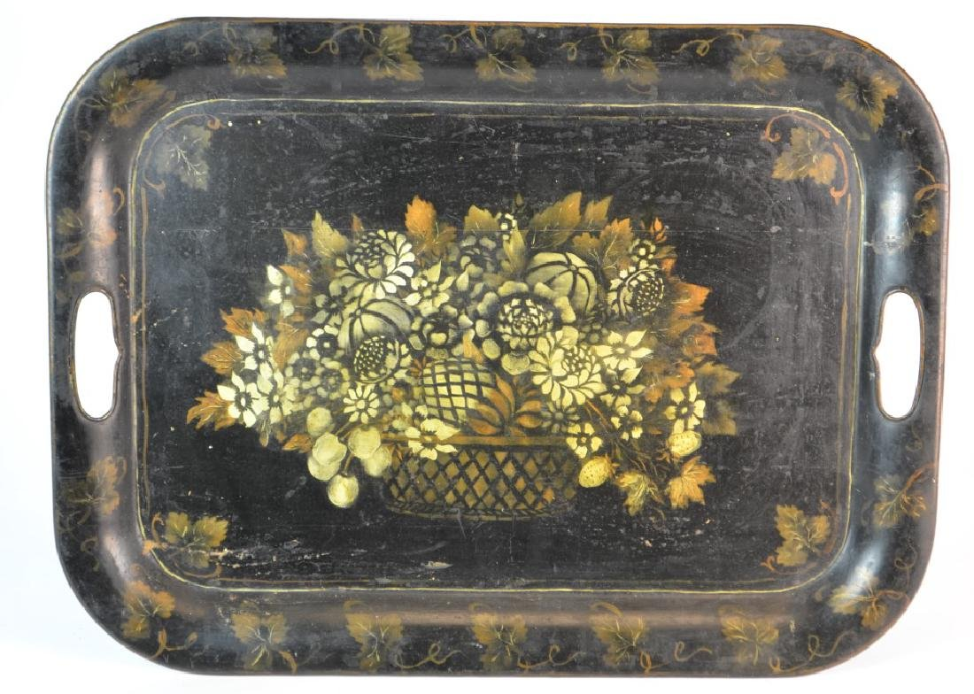 19th Century American (New England) Toleware Tray
