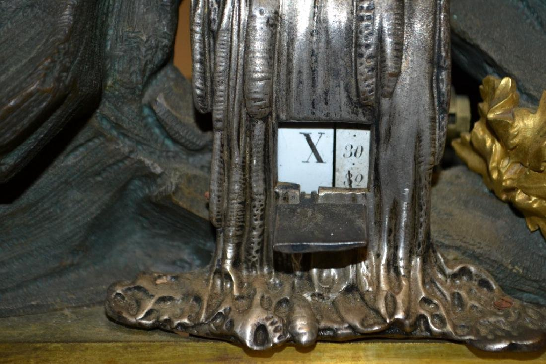 Rare French Mantel Clock Key Wind (Digital) - 3