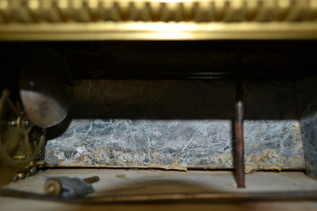 Rare French Mantel Clock Key Wind (Digital) - 8