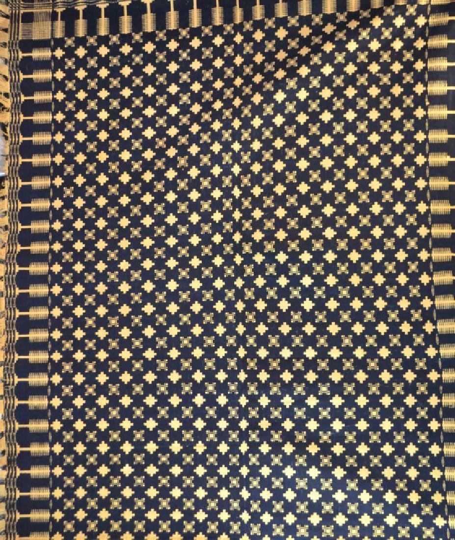 19th C Two Sided Geometric Quilt