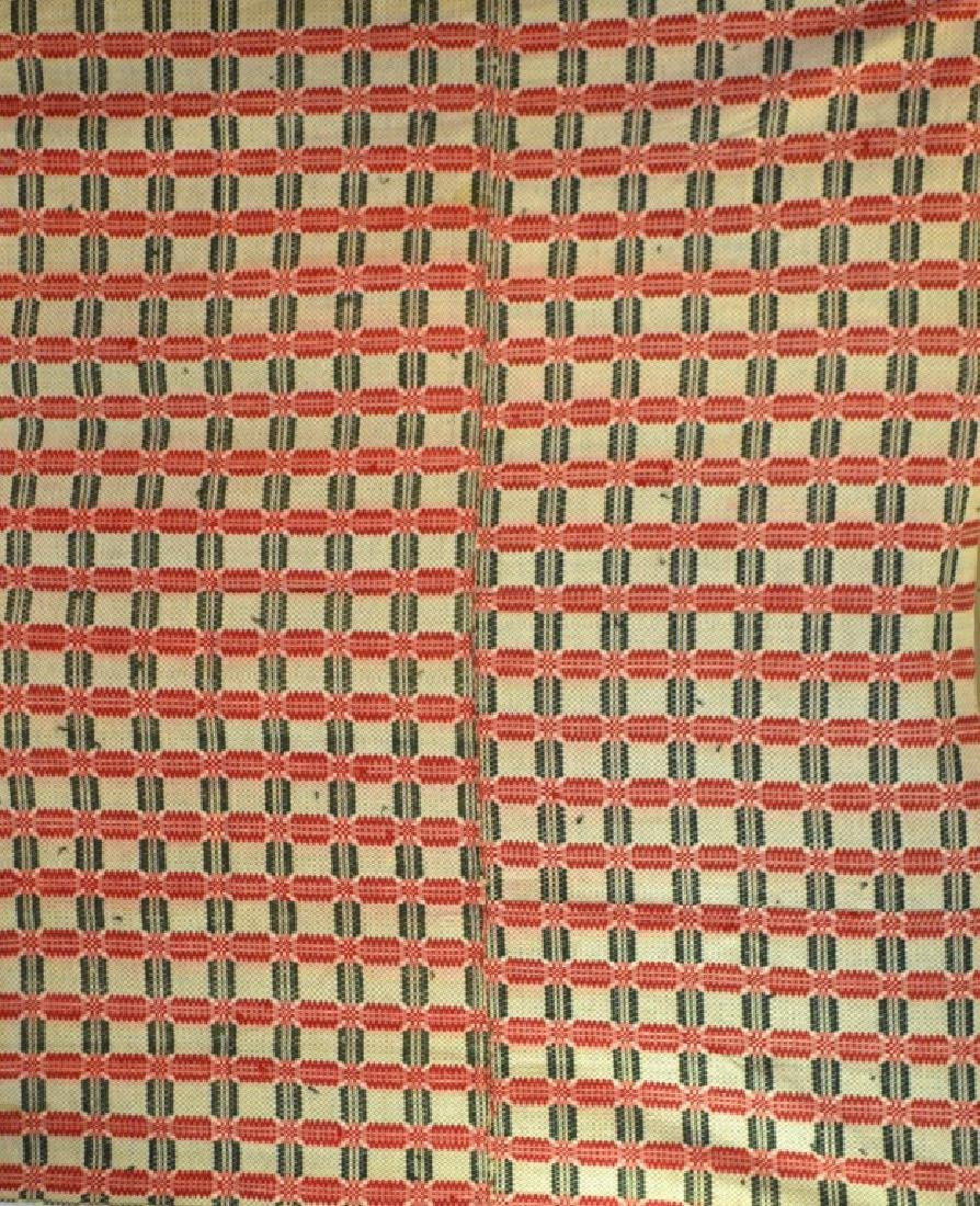 19th C Geometric Coverlet
