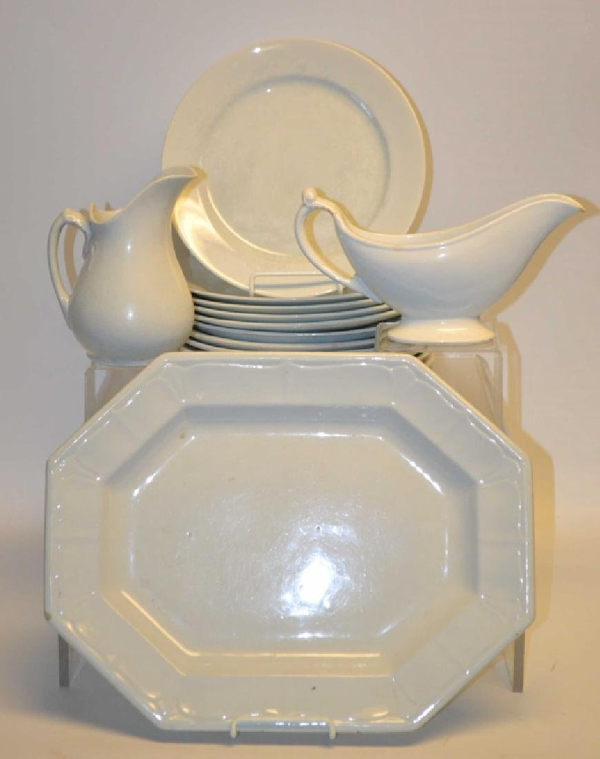 Assembled Set of  Antique White Ironstone