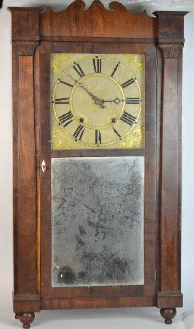 C.1830 American Rodney Brace 30 Hour Shelf Clock