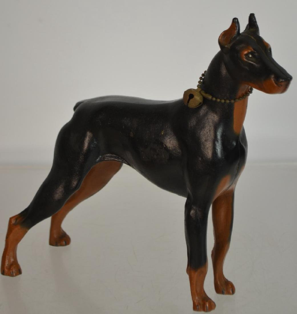 Cast Iron Doberman Pinscher