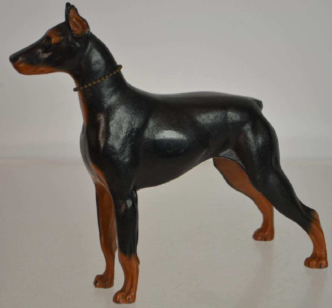 Cast Iron Doberman Pinscher - 2