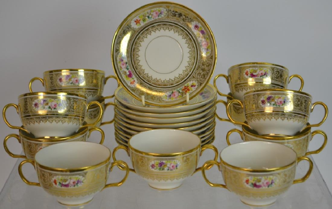 11 Limoges Cups & Saucers