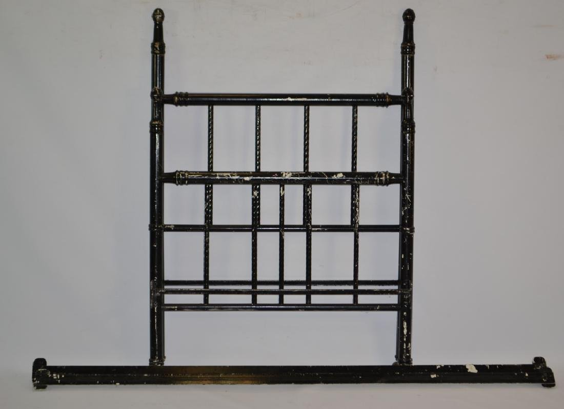 Painted Black Iron Metal Bed