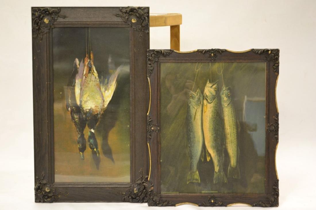 2 Still Life of Fish & Ducks