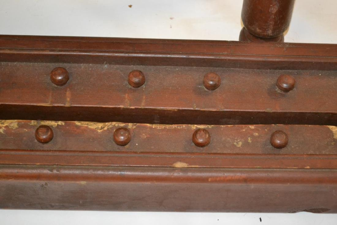 19th C Reddish Brown Painted Rope Bed (Twin Size) - 3