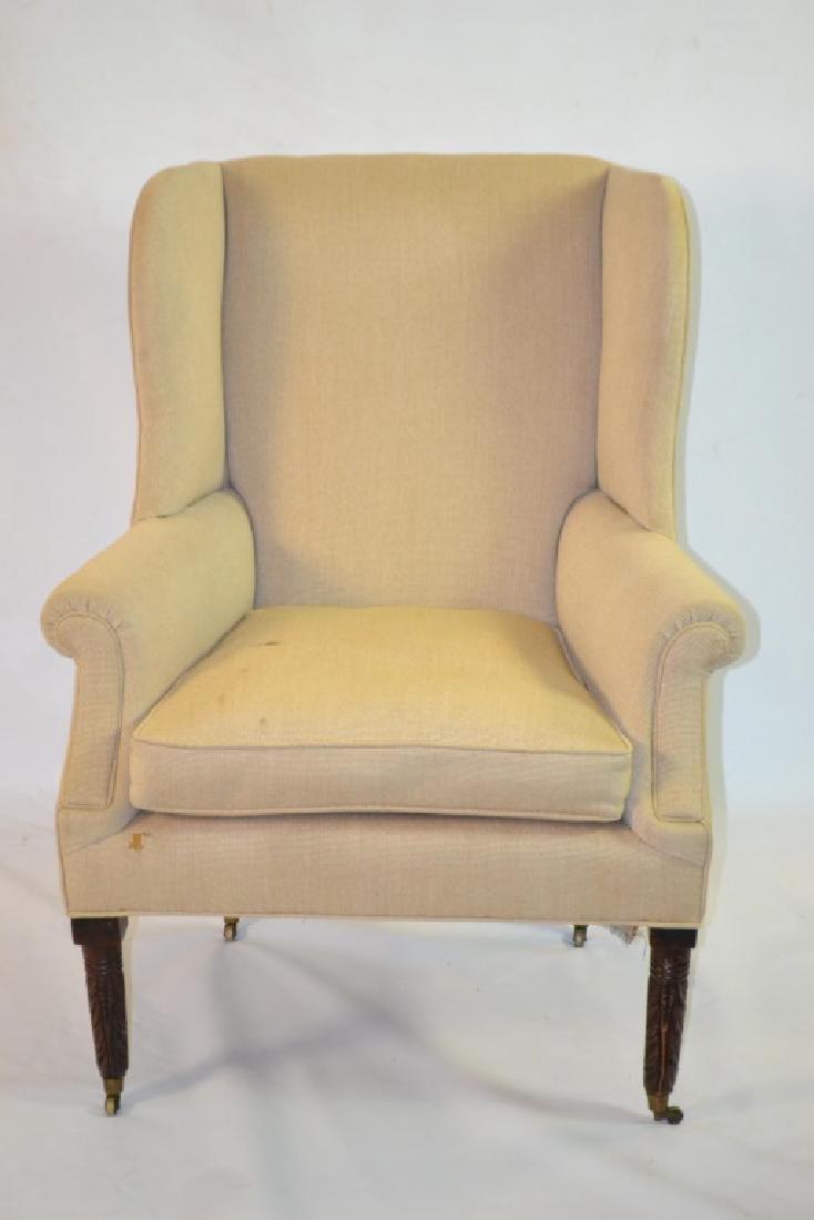19th C Sheraton Wing Back Chair