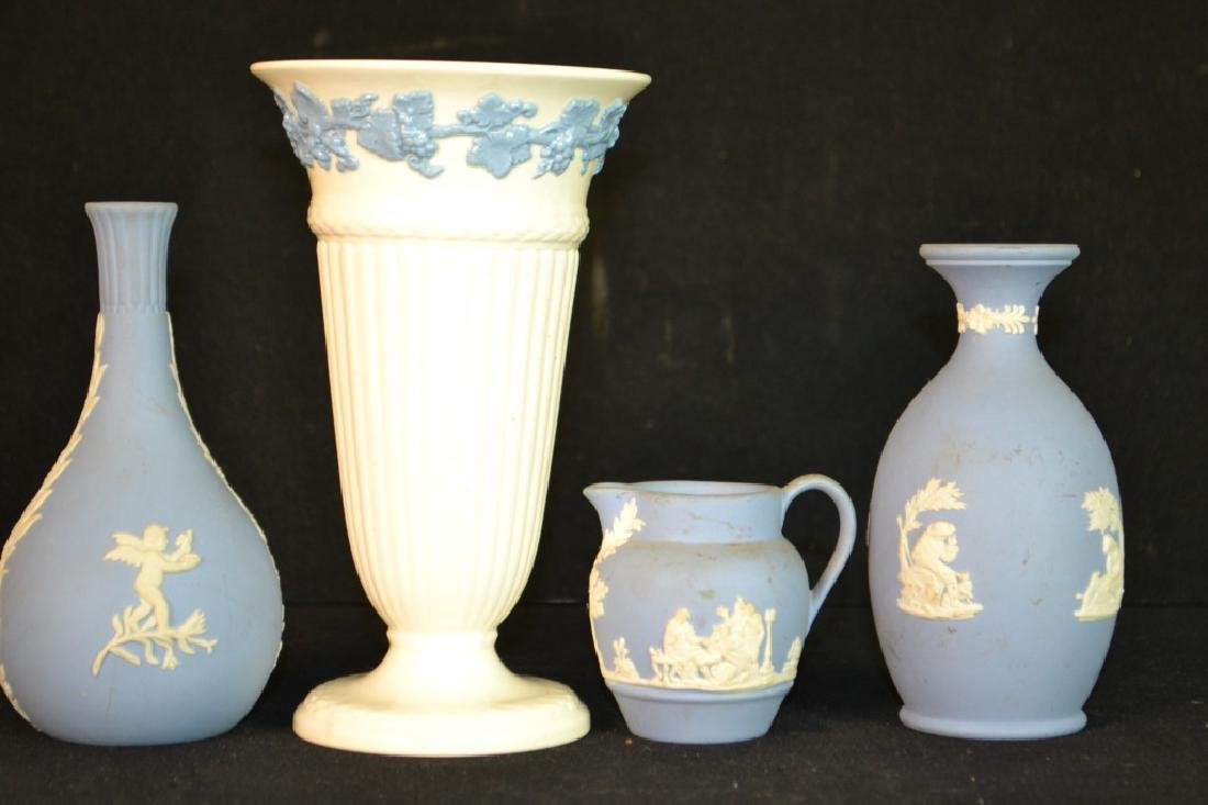 Wedgwood Jasperware and Queens Ware Vase