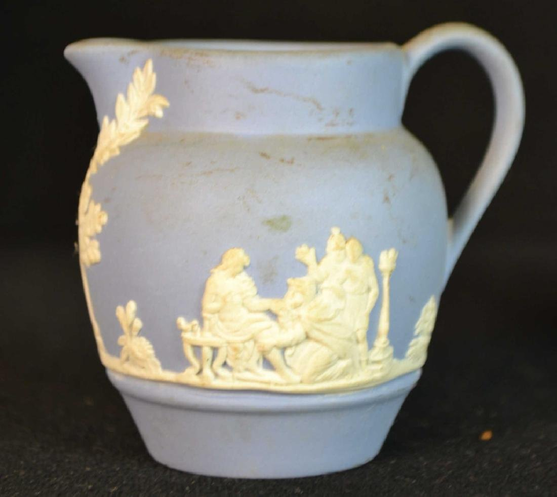 Wedgwood Jasperware and Queens Ware Vase - 4