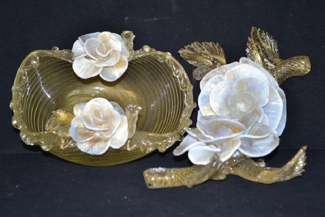 Venetian Three Piece Table Centerpiece Set
