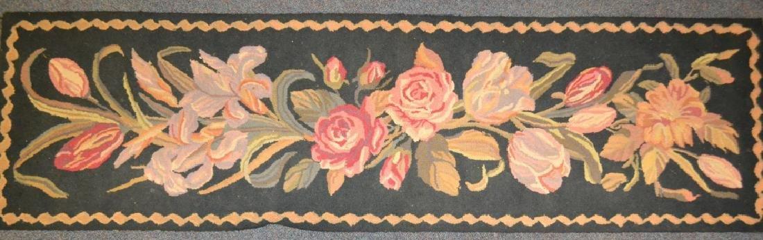 Black Runner w/ Pink Floral Design