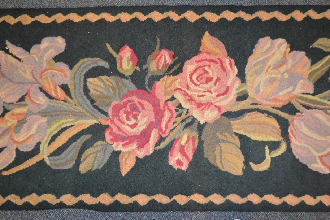 Black Runner w/ Pink Floral Design - 2
