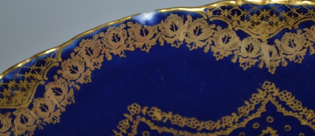 Haviland Limoges Cobalt and Gilt Sea Food Plates - 3