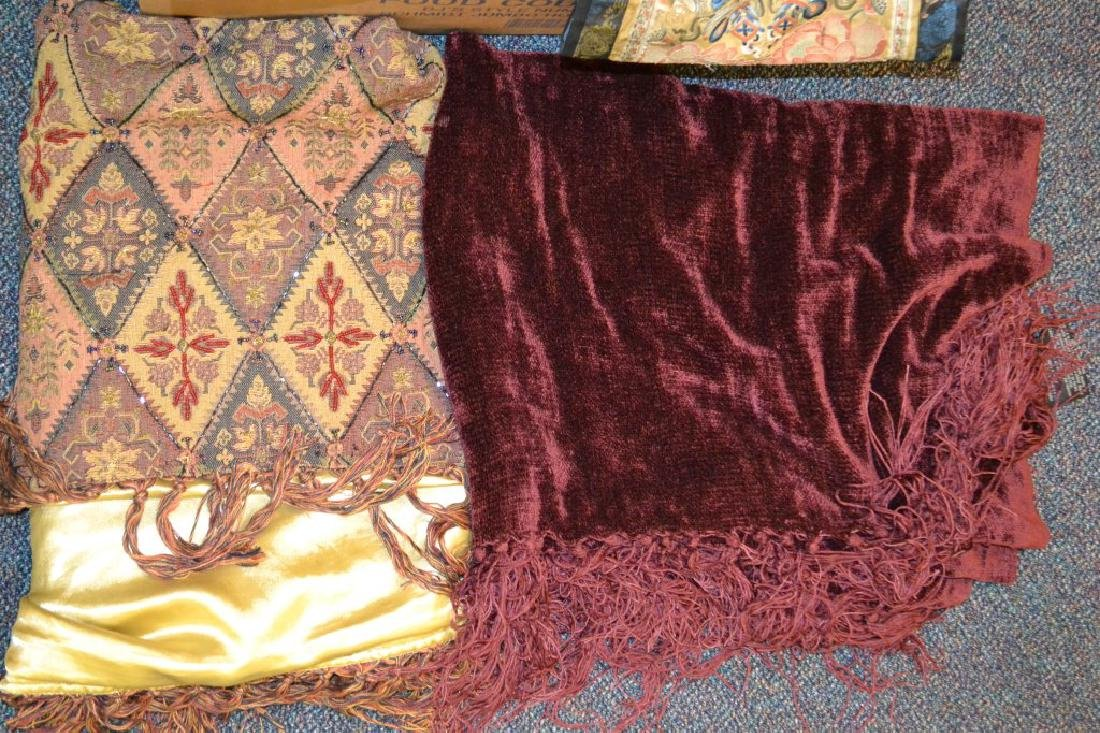 Large Grouping of Tapestries, Silks & Other Items - 2