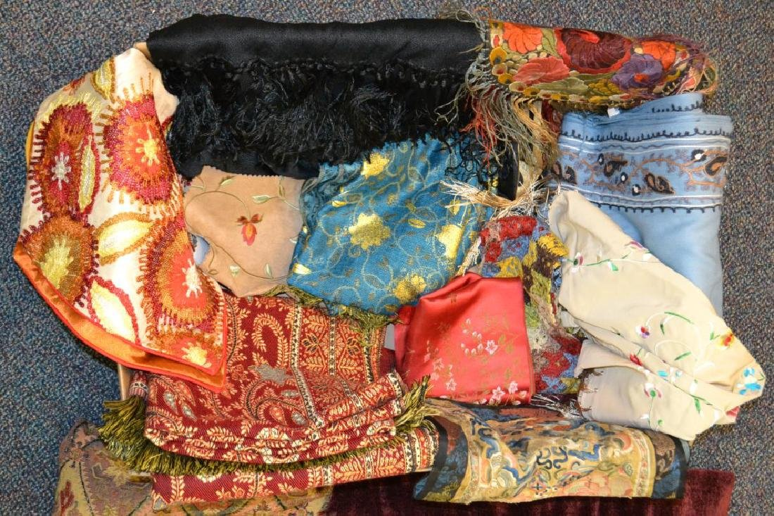 Large Grouping of Tapestries, Silks & Other Items - 3