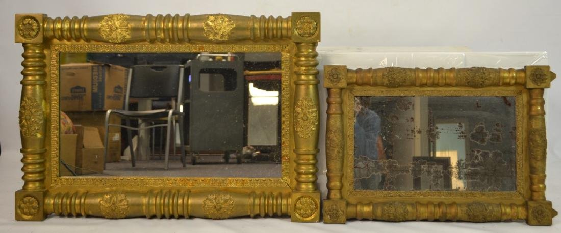 Two Ornate Gilt Mirrors (as is)