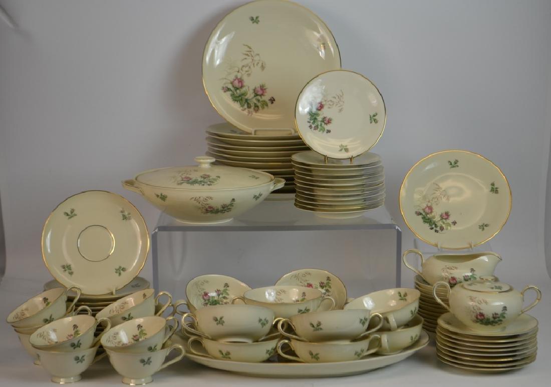 H & B German Porcelain Partial Dinner Service