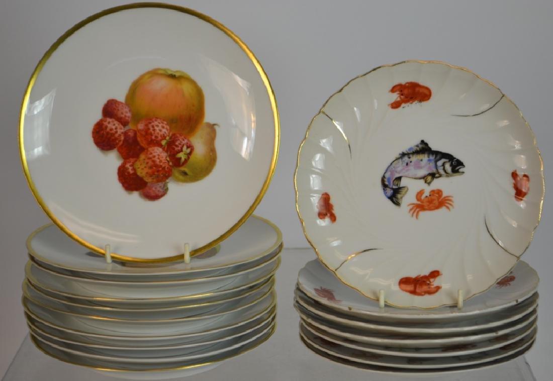 "Ten 7.5"" Bavarian Fruit Plates & Others"