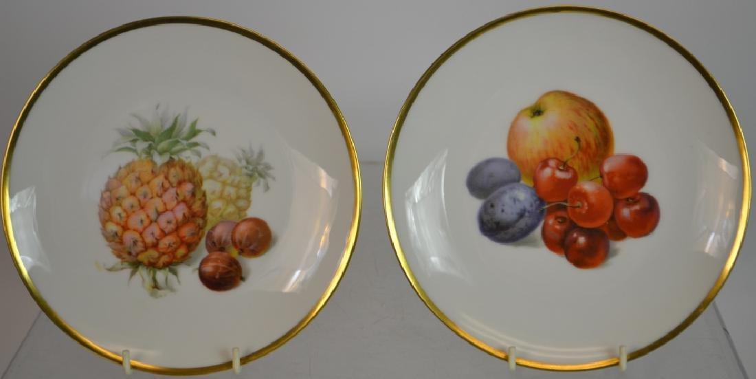 "Ten 7.5"" Bavarian Fruit Plates & Others - 6"