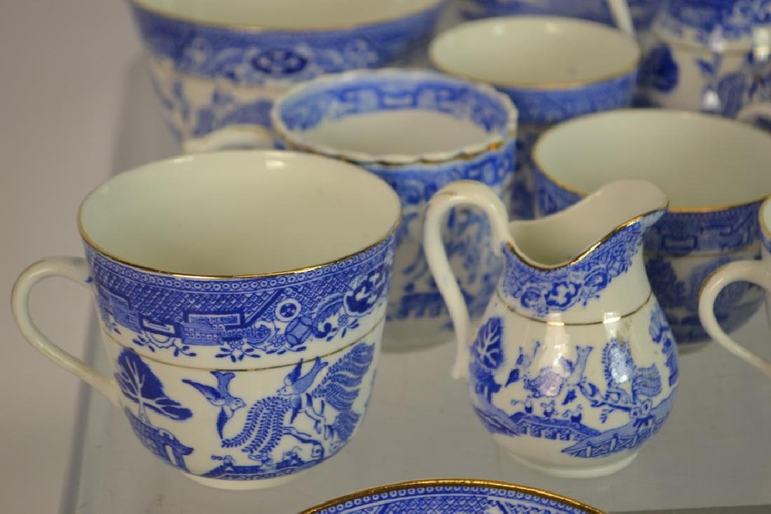 38 Pieces of Blue Willow Partial Tea Service - 3