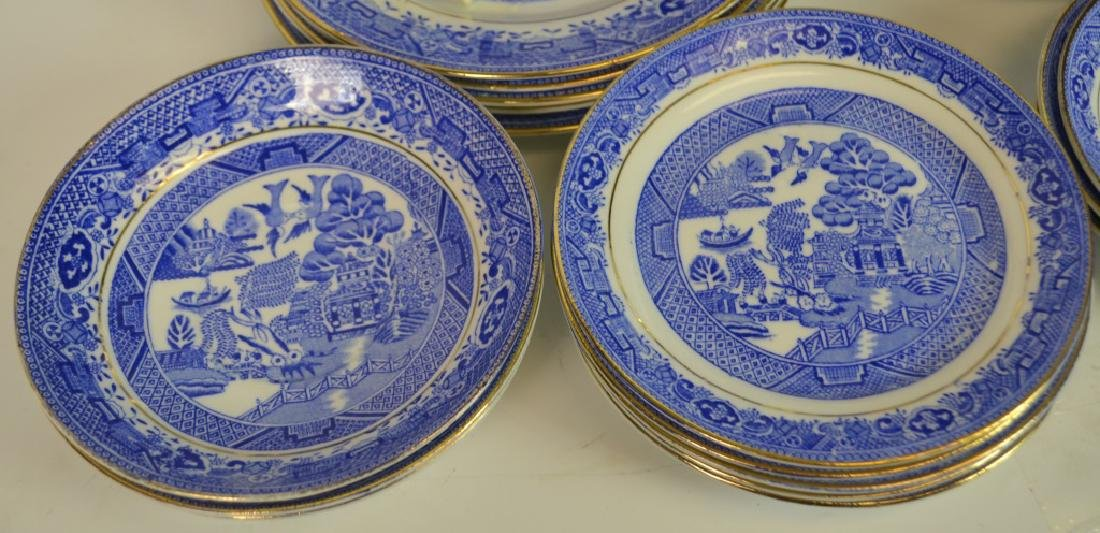 38 Pieces of Blue Willow Partial Tea Service - 5