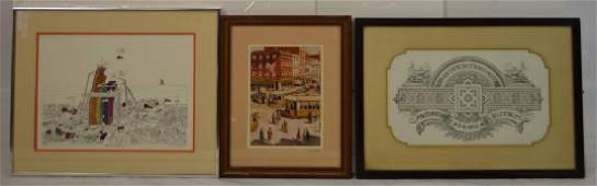 Grouping of 3 Prints by Various Artists