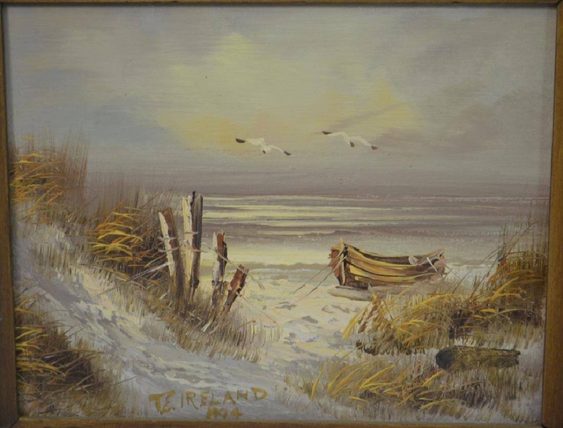 J. Alcott & Thornton E. Ireland Oil Paintings - 2