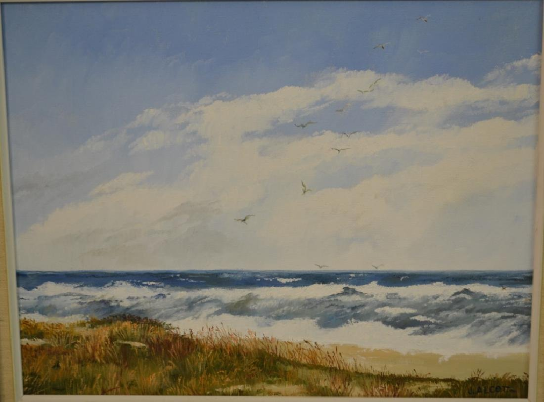 J. Alcott & Thornton E. Ireland Oil Paintings - 4