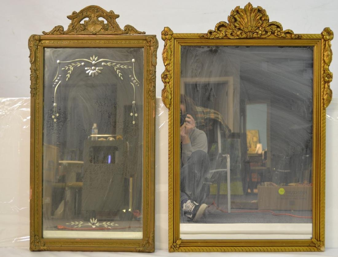 Two Ornate Gold Gilt Mirrors